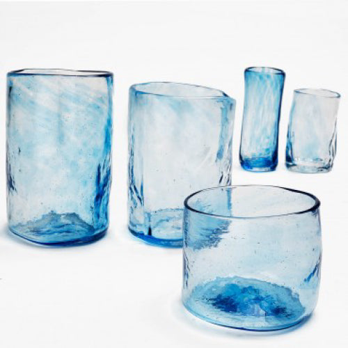 Lena Handblown Large Glass - Ocean