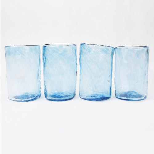 Lena Handblown Medium Glass - Ocean
