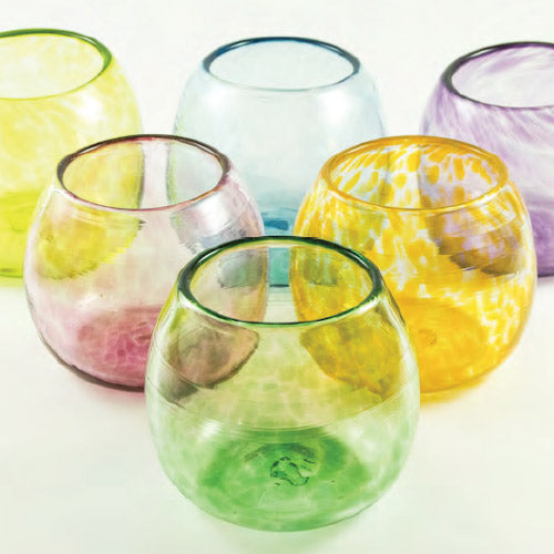 Lena Handblown Wine Glass - Ocean
