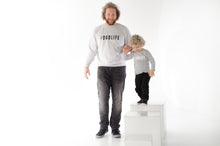 #DADLIFE Sweater Grijs/Wit maat L