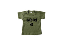 T-shirt Awesome Kid Groen