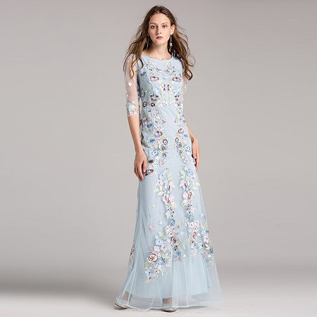 Women Fashion Floral Embroidery Topshop Hot Dress Allyoucanfindstore