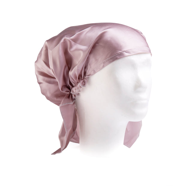 Puffy silk sleep cap