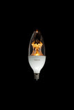 No.6 Candelabra Light Bulb: Moderate Brightness, Clear