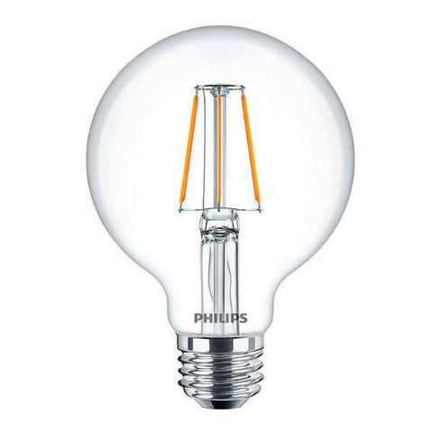 No.8F Globe Filament Light Bulb: Moderate Brightness