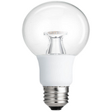 No.8 Large Globe Light Bulb: Moderate Brightness, Clear