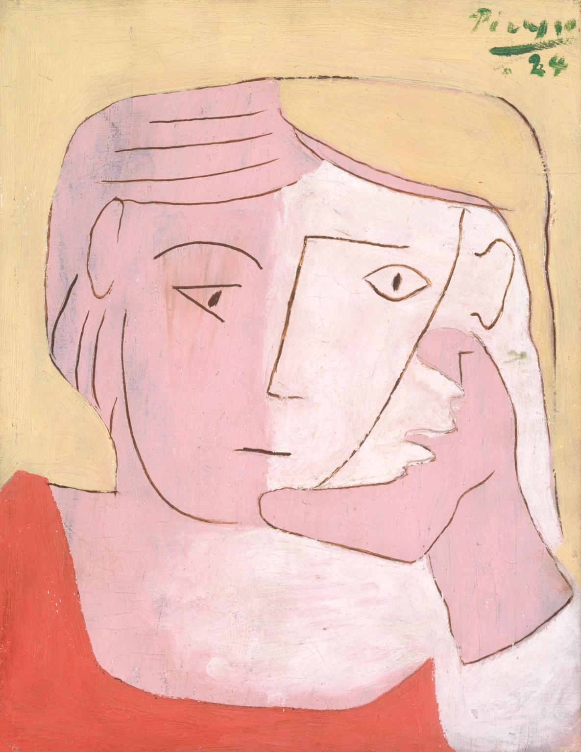 WOMAN WITH PINK EYE