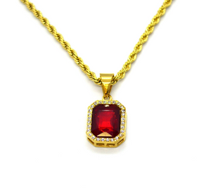 Regal Red Pendant Necklace