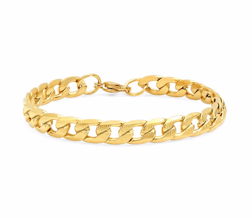 Diamond Cut Cuban Link Bracelet