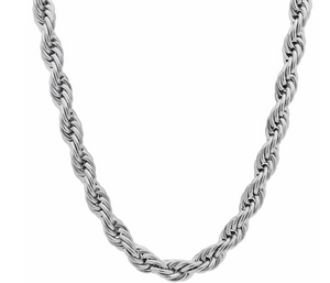 12mm Silver Rope Chain
