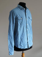 Chambray Shirt with flap chest pocket