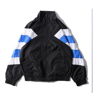 Vintage Color Block Track Jacket