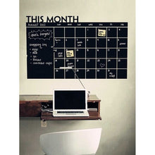 Calendar Blackboard Wall Decal - Pretty|Funkie