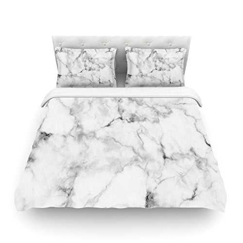 White Marble & Gray - Duvet Cover (Twin Size) - Pretty|Funkie