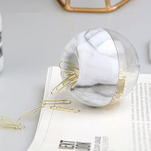 Marble Holder & 100 Gold Paper Clips - Pretty|Funkie