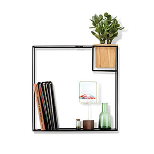 Cubist Floating Shelf & Built-In Succulent Planter - Pretty|Funkie