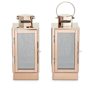 Rose Gold Flameless Lanterns - Set of 2 - Pretty|Funkie