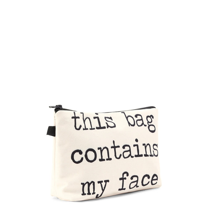 Cosmetic Bag - This Bag Contains My Face - Pretty|Funkie