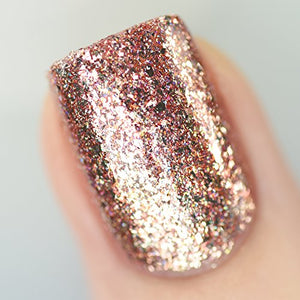 Rose Gold Holographic Nail Polish - Pretty|Funkie