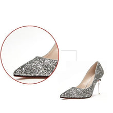 No Place Like Home Sequined High Heels - Pretty|Funkie
