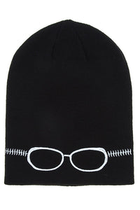 Embroidered Glasses Beanie - Pretty|Funkie