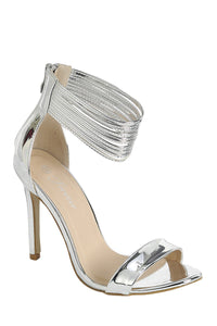 Chrome Strappy Sandals - Pretty|Funkie