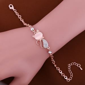 Rose Gold Regal Kitty Bracelet - Pretty|Funkie