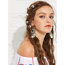 Boho Silver Hair Clip Set - 6 Pcs - Pretty|Funkie