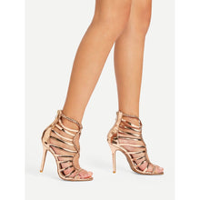 Gold Strappy Sandals - Pretty|Funkie