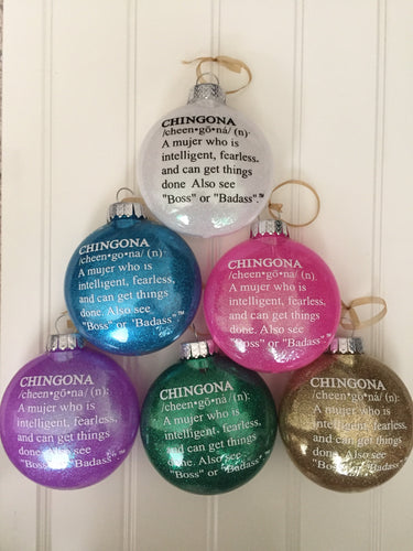 Chingona Definition Ornament