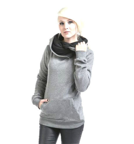 Women Casual Solid Hoodies sweatshirt