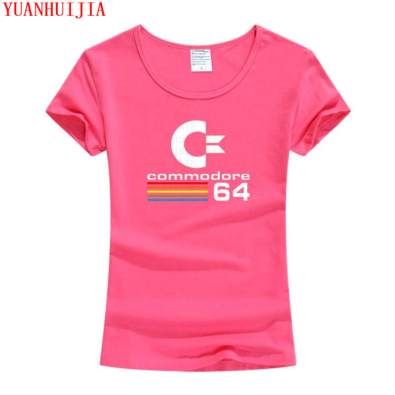 Commodore 64 18 Color S-3XL Plain T Shirt Women Cotton Elastic Basic Tshirt