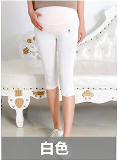 Maternity leggings Summer thin section seven for pregnant women care belly pants