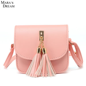 2018 Small Chains Bag Women Candy Color Tassel Messenger Bags