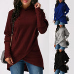 Womens Hoodies Tops Casual Long Sleeveless Ladies Pullover  Clothing Fleece