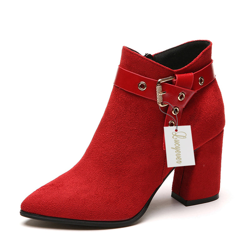 2018 New Arrivals Fashion Women Buckle Ankle Boots