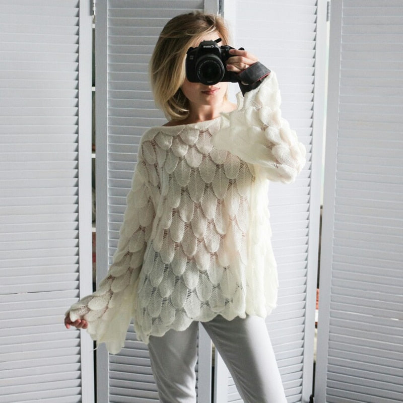 Elegant Sweater Women 2019 Casual Fashion Loose Women Sweaters and Pullovers