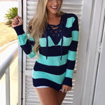 Winter Knitted Women Sweater Knitted Long Sleeve
