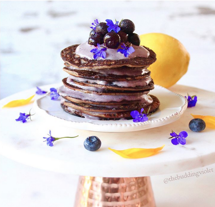 Blueberry Pancakes & Blueberry Lemon Cream Icing