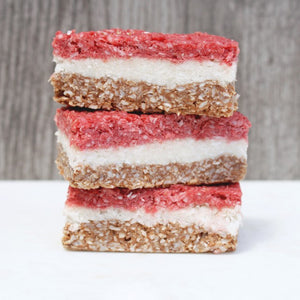 Cacao and Beetroot Coconut Slice