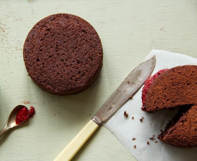 Zoe's Rich Chocolate Celebration Cake & Raspberry Chia Jam
