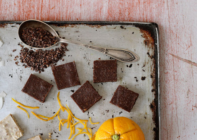 Raw 'Jaffa' Chocolate Fudge