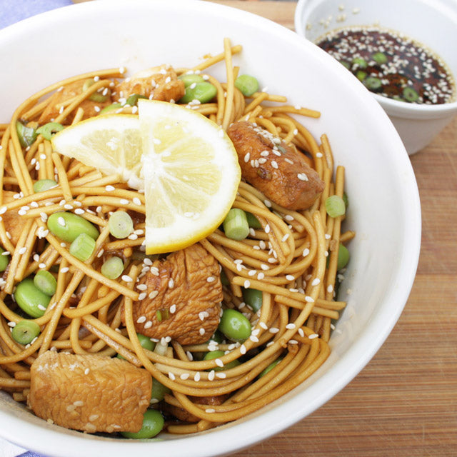 Hot Chili Chicken Noodles w/sesame