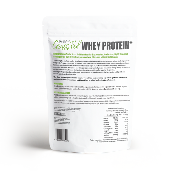 NZ Grass-Fed Whey Protein + 600g - Matakana Superfoods