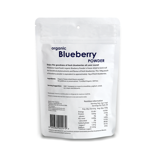Organic Blueberry Powder 100G