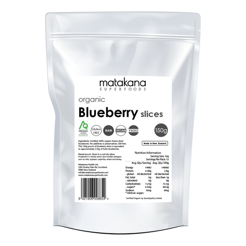 Organic Blueberry Slices 150G