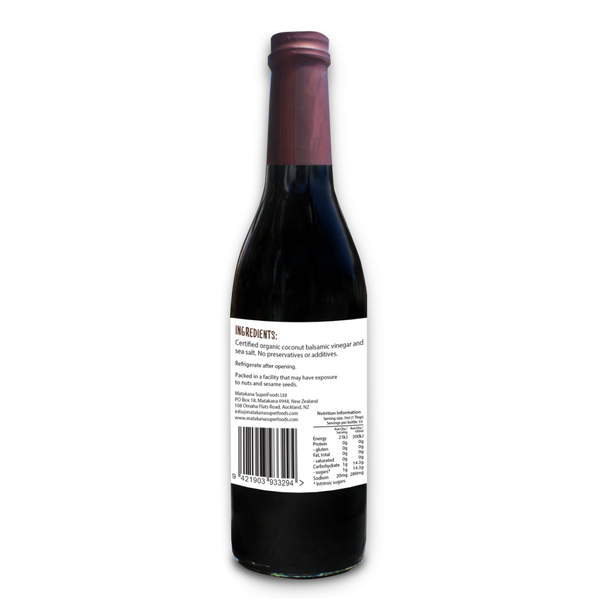 Organic Coconut Balsamic Vinegar 375ml - Matakana Superfoods