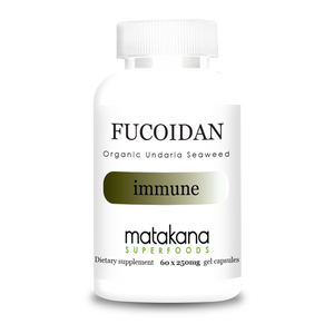 Organic Fucoidan Capsules 60 X 250Mg - Extracted To 50% Purity From Undaria Seaweed