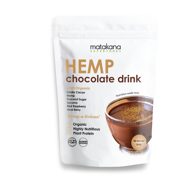 Organic Hemp Chocolate Drink 260g - Matakana Superfoods