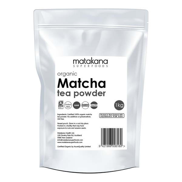 Organic Matcha Tea Powder 1kg - Matakana Superfoods